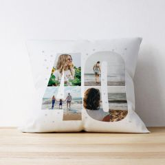Photo Upload Cushion - 40 Years Old - Multiple Images