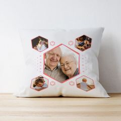 Photo Upload Cushion - Hexagon
