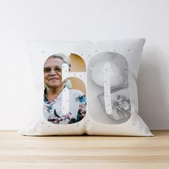 Photo Upload Cushion - 60 Years Old - Multiple Images