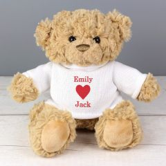 Personalised Valentines Day Message Bear