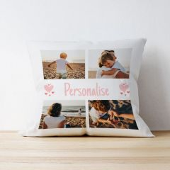 Photo Upload Cushion with Text