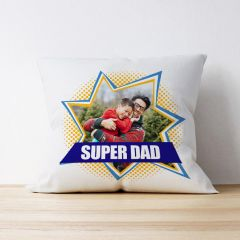 Photo Upload Cushion - Super Dad