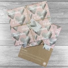 Happy Anniversary Giftwrap - Multiple colours choices