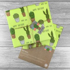 Cacti Giftwrap - Multiple colours choices