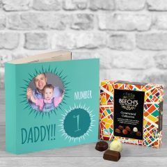 Number 1 Fathers Day Green - Chocolate Box Gift Card
