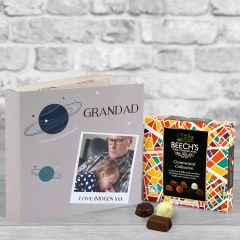 Grandad Out of This World Fathers Day Warm Grey - Chocolate Box Gift Card