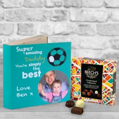 Super Dad Fathers Day Turquoise - Chocolate Box Gift Card