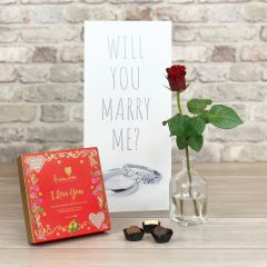 Will You Marry Me? Rings - Tall Flower Card