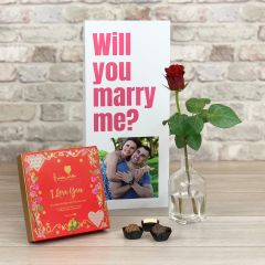 Will You Marry Me? - Tall Flower Card