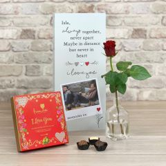 I love you Tall Flower Card