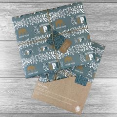 Elephant Jungle Happy Birthday Giftwrap - Multiple colours choices