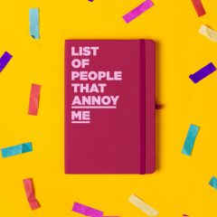'List of People That Annoy Me' Notebook Pink