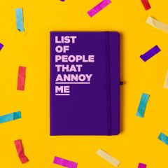'List of People That Annoy Me' Notebook Purple
