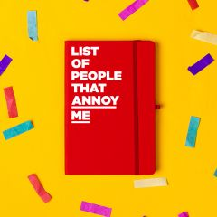 'List of People That Annoy Me' Notebook Red