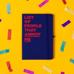 'List of People That Annoy Me' Notebook Navy