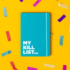 The 'Kill List' Notebook Cyan Blue