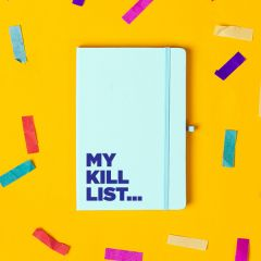 The 'Kill List' Notebook Pastel Blue