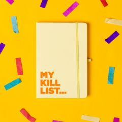 The 'Kill List' Notebook  Pastel Yellow