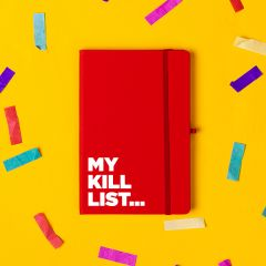 The 'Kill List' Notebook Red