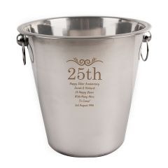 Engraved Number Frame Stainless Steel Ice Bucket