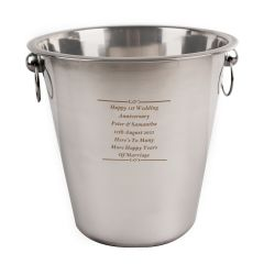 Engraved Any Message Stainless Steel Ice Bucket