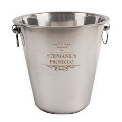 Engraved Decorative Stainless Steel Ice Bucket