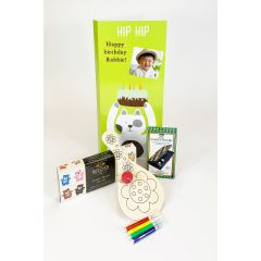 Hip Hip Personalised Birthday Card Letterbox Gift set