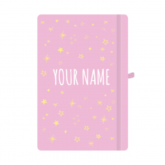Personalised Star Notebook Pastel Pink