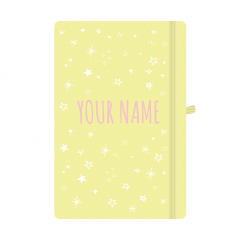Personalised Star Notebook Pastel Yellow