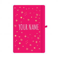 Personalised Star Notebook Pink