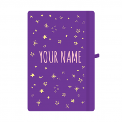 Personalised Star Notebook Purple