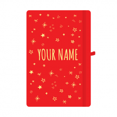 Personalised Star Notebook Red