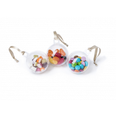 Set of 3 Sweetie Filled Christmas Baubles